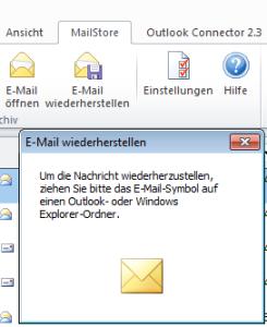 E-Mail wiederherstellen