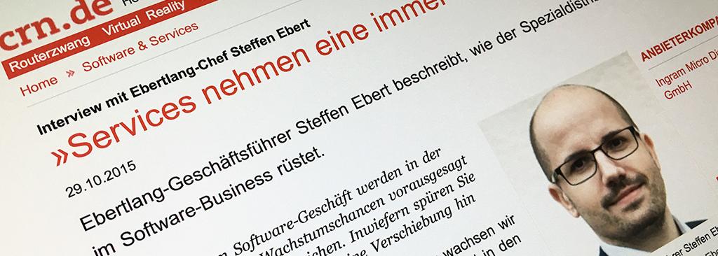 Steffen Ebert im Interview mit der CRN