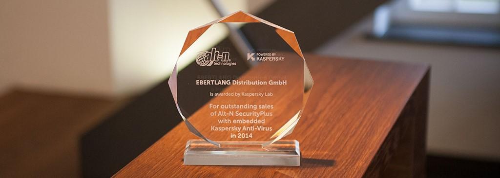 Kaspersky Award für EBERTLANG
