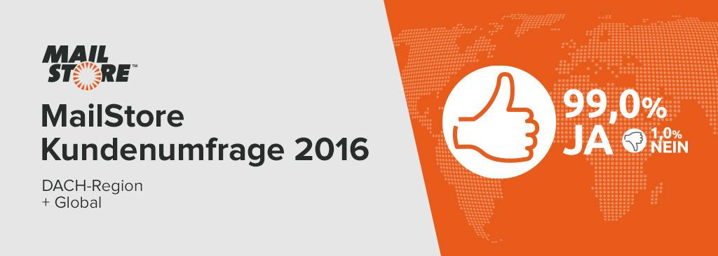 MailStore Kundenumfrage 2016