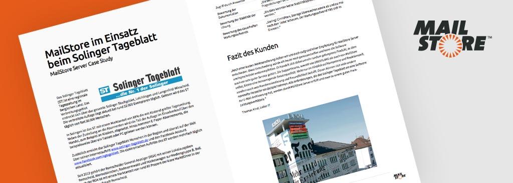 Neue CaseStudy: MailStore Server im praktischen Einsatz beim Solinger Tageblatt