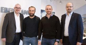 Volker Lang, David Vella, Stephen Chetcuti Bonavita, Steffen Ebert (v.r.)