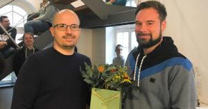 Web Development-Teamleiter Robert Weißbach (rechts) mit Co-CEO Steffen Ebert.