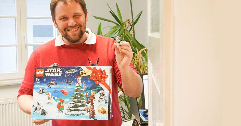 Der Adventskalender mit LEGO Star Wars-Figuren: für unseren Senior Account Manager und Star Wars-Fan Dennis Körber ein absolutes Muss.