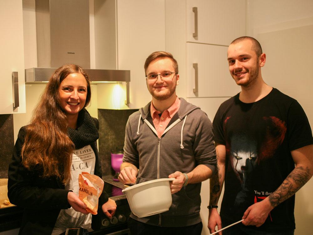 Noch hochmotiviert: Danica, Thalim und Nicolai (v.l.)
