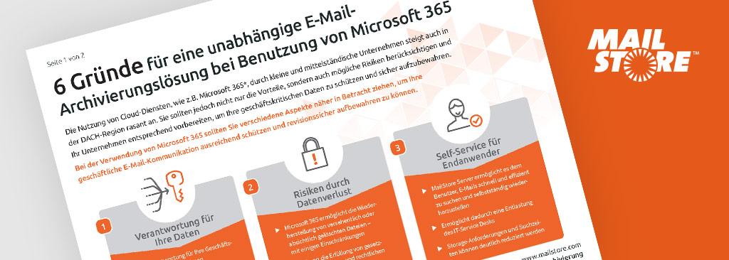 MailStore Factsheet Microsoft 365