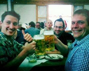2011: Steffen Köhler, Markus Knauf und Jochen Meuer (v.l.) beim Wetzlarer Ochsenfest