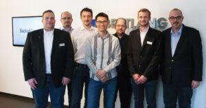 Besuch aus Down Under 2015: Steven Chua (Mitte) von BackupAssist-Hersteller Cortex I.T. bei uns in Wetzlar