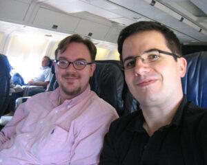 2004: Volker Lang und Steffen Ebert (v.l.) auf dem Weg nach Las Vegas zur Distributoren-Konferenz von MDaemon Technologies